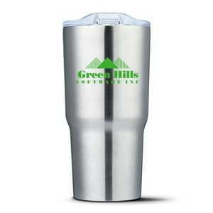 The Gilbey Double Wall Tumbler - 20oz Silver